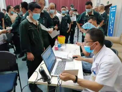 企业来了疫苗接种流动服务队 筑起安全防护屏障