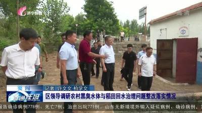 任城区领导调研农村黑臭水体与稻田回水治理问题整改落实情况
