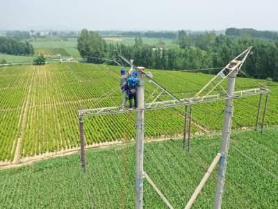 国网澳门威尼人在线供电公司安装驱雷装置保障电网安全运行
