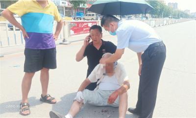 濟寧正能量 | 老人車禍受傷 退伍軍人傾情救助