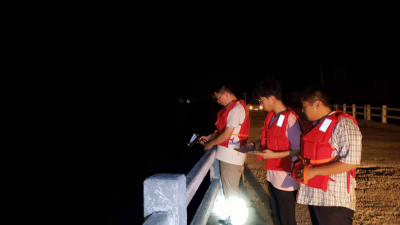 未雨綢繆以練促戰 汶上開展夜間測洪應急演練