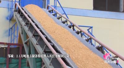 邹城市完成2.1万吨地方储备粮轮换入库任务