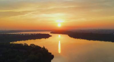更濟寧 | 美成一幅畫!來金鄉金平湖,看日出日落!