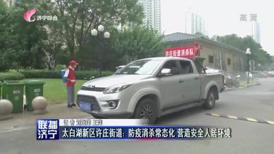 太白湖新區許莊街道:防疫消殺常態化 營造安全人居環境
