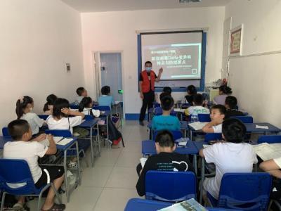 越河街道社區防疫知識小課堂開課 提高青少年防控意識