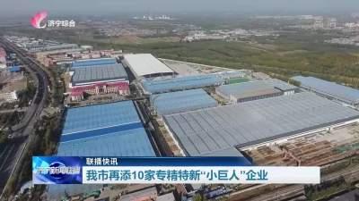 """济宁市再添10家专精特新""""小巨人""""企业"""