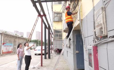 金鄉推進空中纜線整治 提升城區整體形象