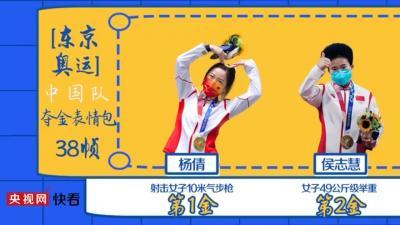 東京奧運中國隊奪金表情包38幀