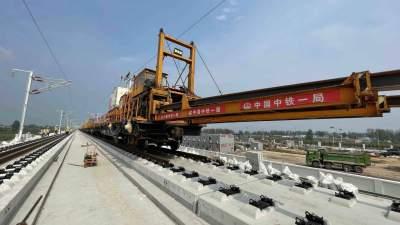 曲阜至菏澤至莊寨鋼軌鋪設完成 魯南高鐵全線貫通