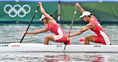 第37金!女子500米双人划艇夺冠