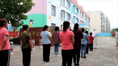 以練促防丨金屯鎮中心幼兒園這樣開展疫情防控應急演練