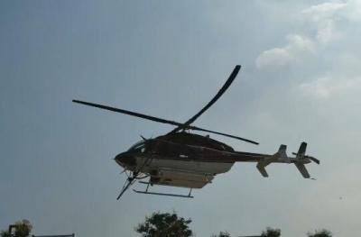 高新区开展对第三代美国白蛾飞机防治工作