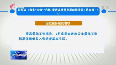 """山东省《落实""""六稳""""""""六保""""促进高质量发展政策清单(第四批)》(七)"""