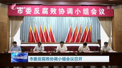 市委反腐败协调小组会议召开