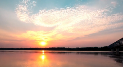 黃河落日,絕美壯麗