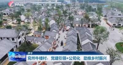 领航丨兖州牛楼村:党建引领+公司化 助推乡村振兴