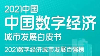 2021數字經濟城市百強榜發布,濟寧上榜