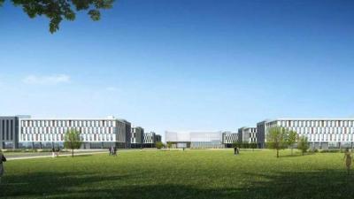 济东数字产业园项目4栋主体接连封顶